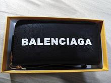 Гаманець жіночий Balenciaga, Баленсіага репліка, екошкіра, чорний