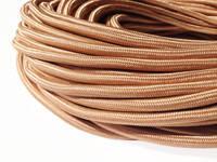 Медно-золотой провод в текстильной оплетке (2х0,75)