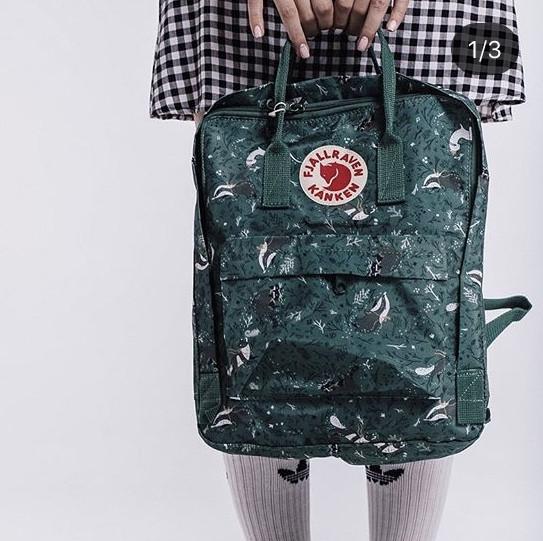 Стильный мужской рюкзак Kanken, трансформер зеленый