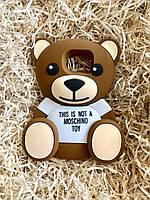 Силиконовый чехол Медведь Moschino Samsung S7