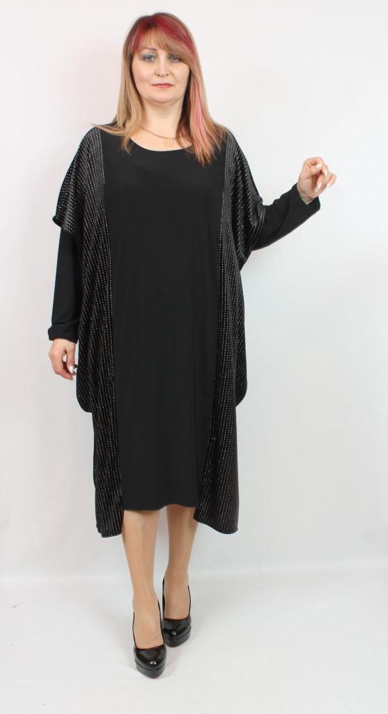 Турецкое женское асимметричное платье больших размеров 54-70