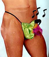 Эротические мужские стринги ШАЛОВЛИВЫЙ КАКАДУ с музыкальным эффектом, фото 1