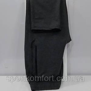 Спортивные трикотажные штаны турецкие, серые, TOMMY LIFE, прямые, 80 хлопка.