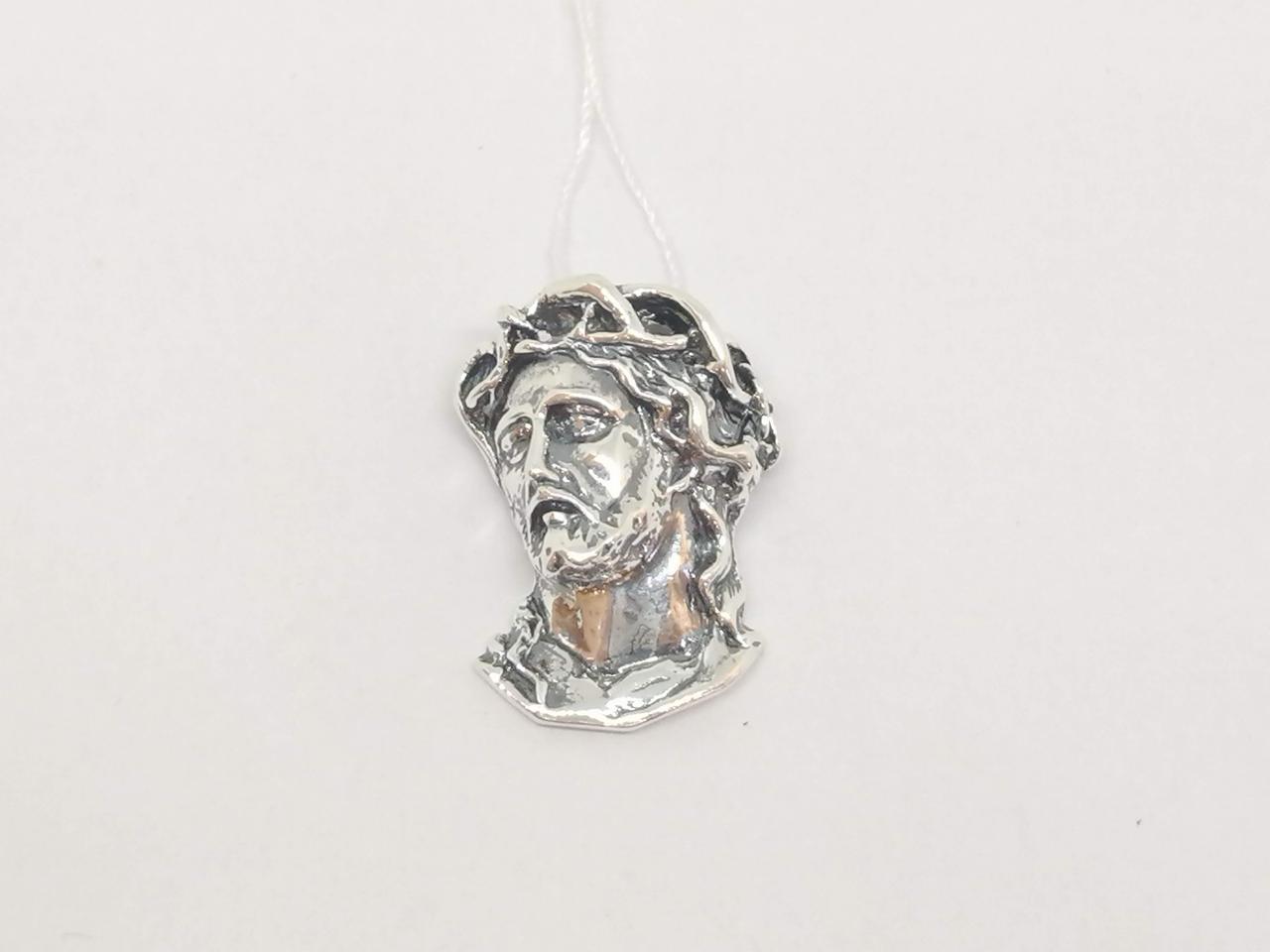 Серебряная подвеска Лик Иисуса Христа. Артикул 30240
