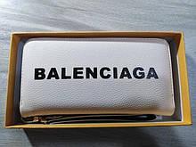 Гаманець жіночий Balenciaga, Баленсіага репліка, екошкіра, бежевий