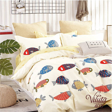 Подростковое постельное белье Viluta 403 сатин 143*205, фото 2