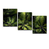 """Модульная картина """"Пальмы"""" 124х70см."""