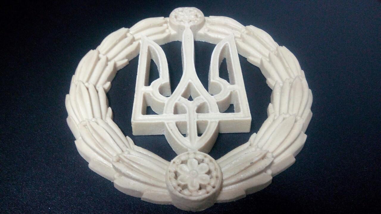 Декоративный герб Украины настенный из твёрдого полиуретана