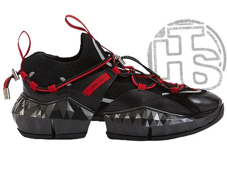 Жіночі кросівки Jimmy Choo Diamond Black Red, фото 2