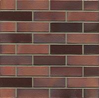 Клинкерный кирпич MUHR 04 EG Красно-коричневый пестрый глянцевый