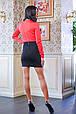 Платье с кружевом на талии КРИСТИ красный, фото 4