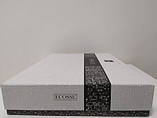 Комплект постільної білизни Ecosse VIP жаккард сатин 200х220 Damask Pudra, фото 2