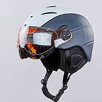Шлем горнолыжный с визором и механизмом регулировки (в наличии только размер М)