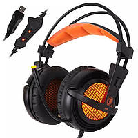 Наушники Sades A6 7.1 Surround Sound Black/Orange
