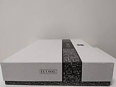 Комплект постельного белья Ecosse VIP сатин жаккард 200х220 Damask Kahve беж, фото 3