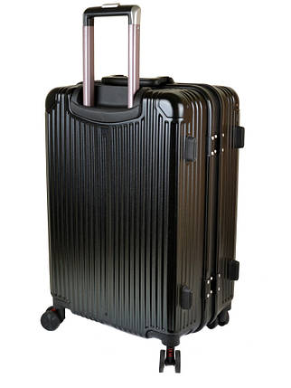 Дорожная Чемодан 1 Маленький ABS-пластик 05 black замок, фото 2