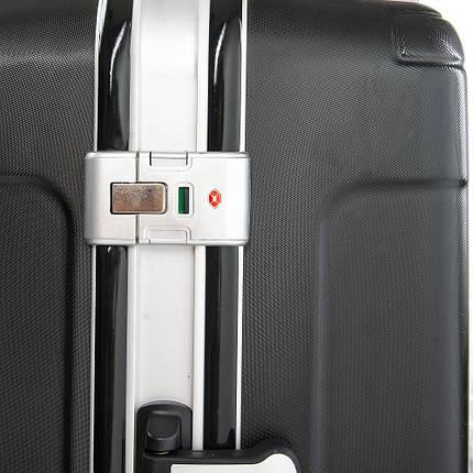 Дорожная Чемодан 2/1 ABS-пластик 04 black замок, фото 2