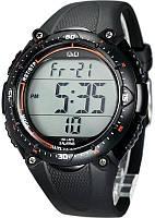 Мужские спортивные часы Q&Q M010 Черные