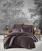 Комплект постельного белья Ecosse VIP сатин Stripe 200х220 коричневый