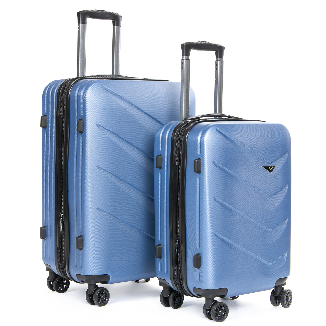 Дорожная Чемодан 2/1 ABS-пластик 8340 blue змейка