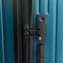 Дорожная Чемодан 2/1 ABS-пластик 8340 green змейка, фото 3