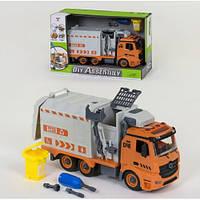 Іграшковий розбірної сміттєвоз на шурупах 9082 A: розмір 31см (світло + звук)