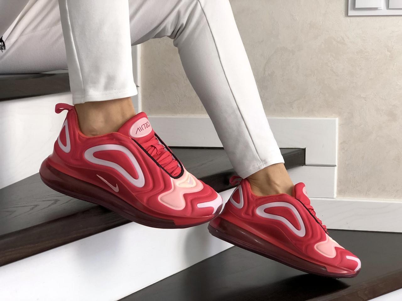 Женские кроссовки Nike Air Max 720 (красно-белый) 8949