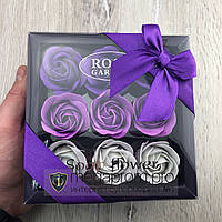Подарочный набор розы из мыла Soap Flower 9 шт подарок любимой любимой девушке маме на 8 марта сиреневые