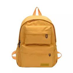 Водонепроницаемый желтый рюкзак  однотонный женский LOOZYKIT (AV235)