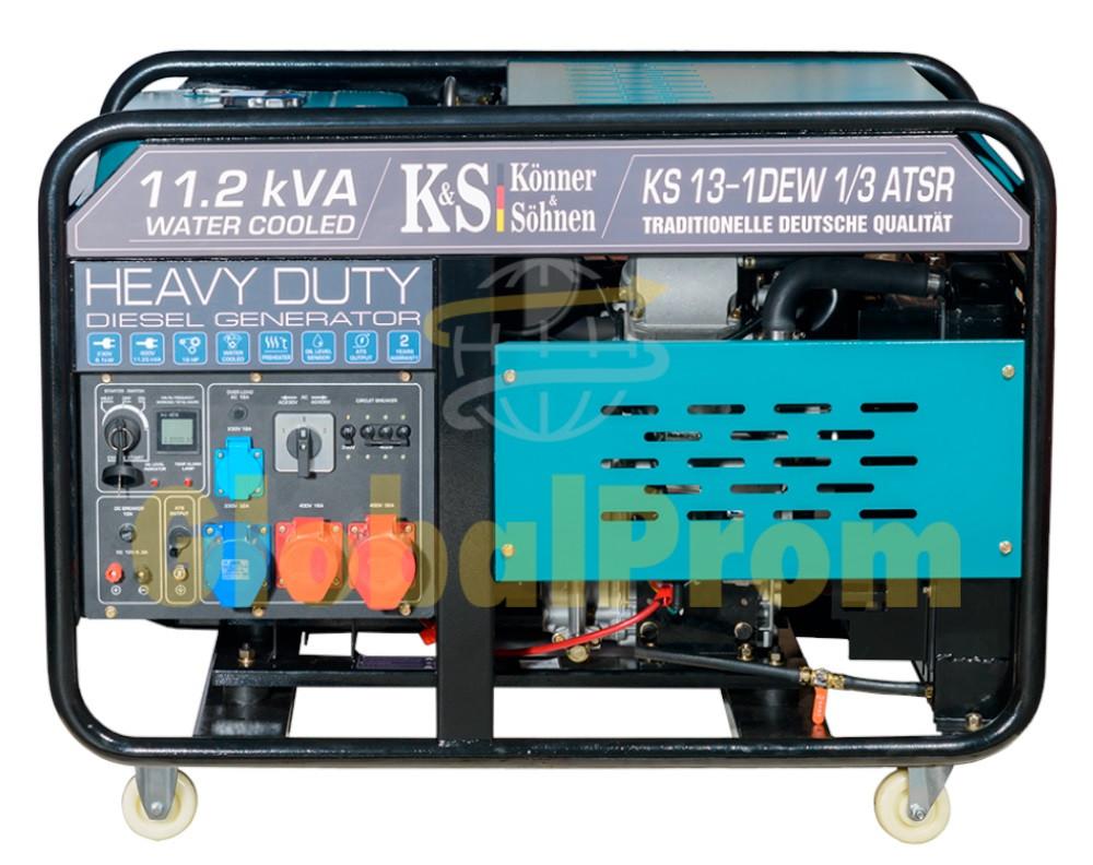 Дизельный генератор Könner & Söhnen KS 13-1DEW 1/3 ATSR