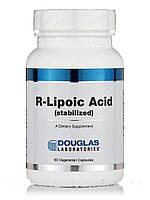 R-липоевая кислота (стабилизированная), R-Lipoic Acid, Douglas Laboratories, 60 вегетарианских капсул