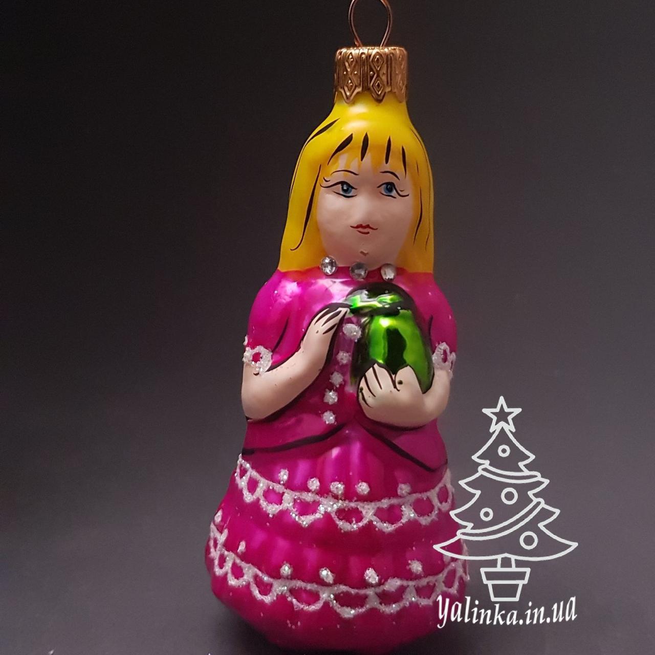 Стеклянная елочная игрушка Девочка Мальвина И-6