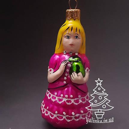 Стеклянная елочная игрушка Девочка Мальвина И-6, фото 2