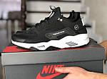 Мужские кроссовки Nike Huarache Fragment Design (черно-белые) 8950, фото 4
