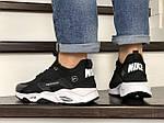 Мужские кроссовки Nike Huarache Fragment Design (черно-белые) 8950, фото 3