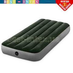 Односпальный надувной матрас Intex 64106 (76 x 191 x 25 см) Prestige Downy Airbed