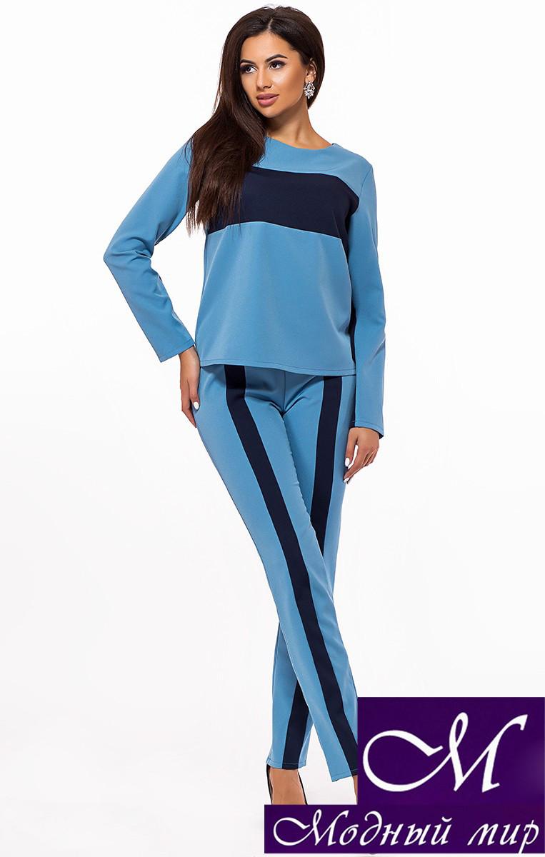 Голубой брючный костюм женский (р. S, M, L) арт. 24-336