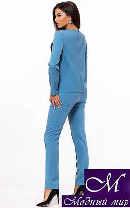 Голубой брючный костюм женский (р. S, M, L) арт. 24-336, фото 2