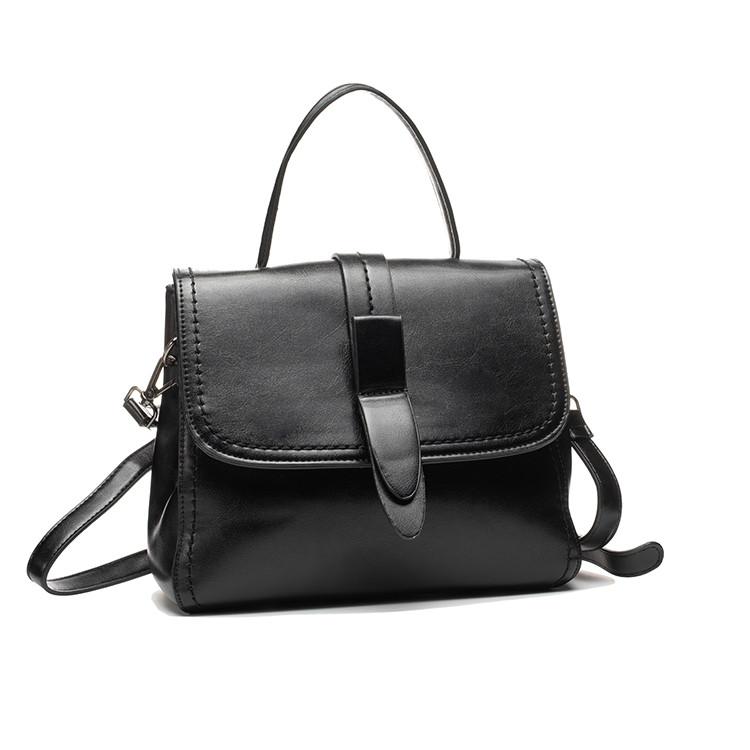 Классическая женская кожаная сумка на плечо
