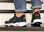 Мужские кроссовки Nike Huarache Fragment Design (темно-синие с белым) 8951, фото 4