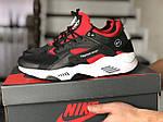 Чоловічі кросівки Nike Huarache Fragment Design (чорно-білі з червоним) 8952, фото 3