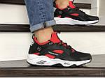Чоловічі кросівки Nike Huarache Fragment Design (чорно-білі з червоним) 8952, фото 4