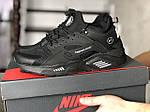 Чоловічі кросівки Nike Huarache Fragment Design (чорні) 8953, фото 2