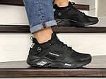 Мужские кроссовки Nike Huarache Fragment Design (черные) 8953, фото 3