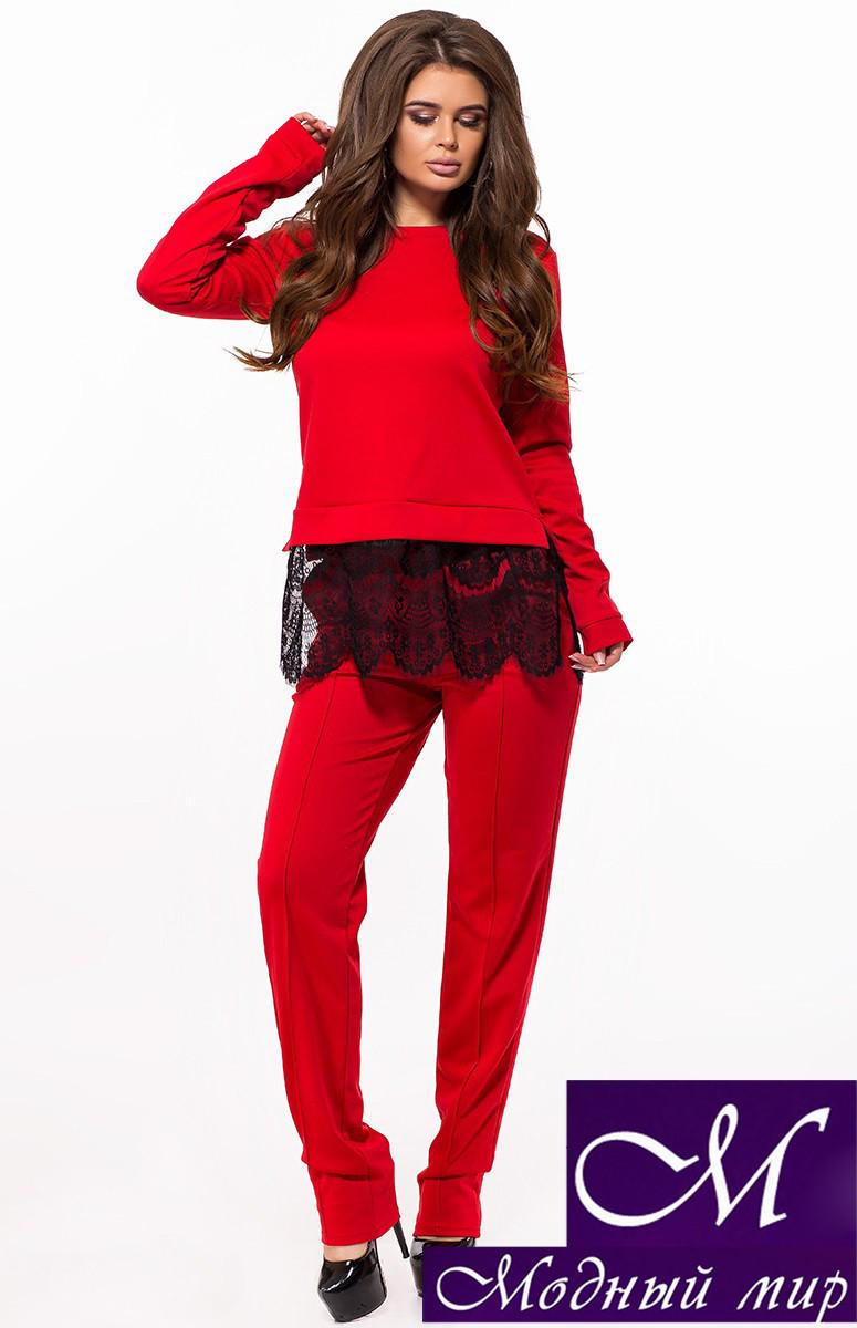 Красный брючный костюм женский (р. 42, 44, 46) арт. 26-235