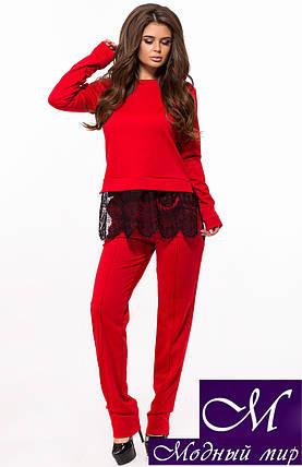 Красный брючный костюм женский (р. 42, 44, 46) арт. 26-235, фото 2