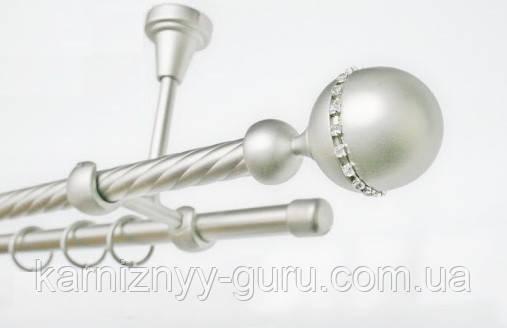 Карниз для штор ø 19+19 мм, наконечник Кортеза