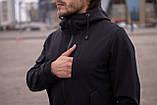 Мужской костюм черный демисезонный Softshell Intruder. Куртка мужская черная, фото 6