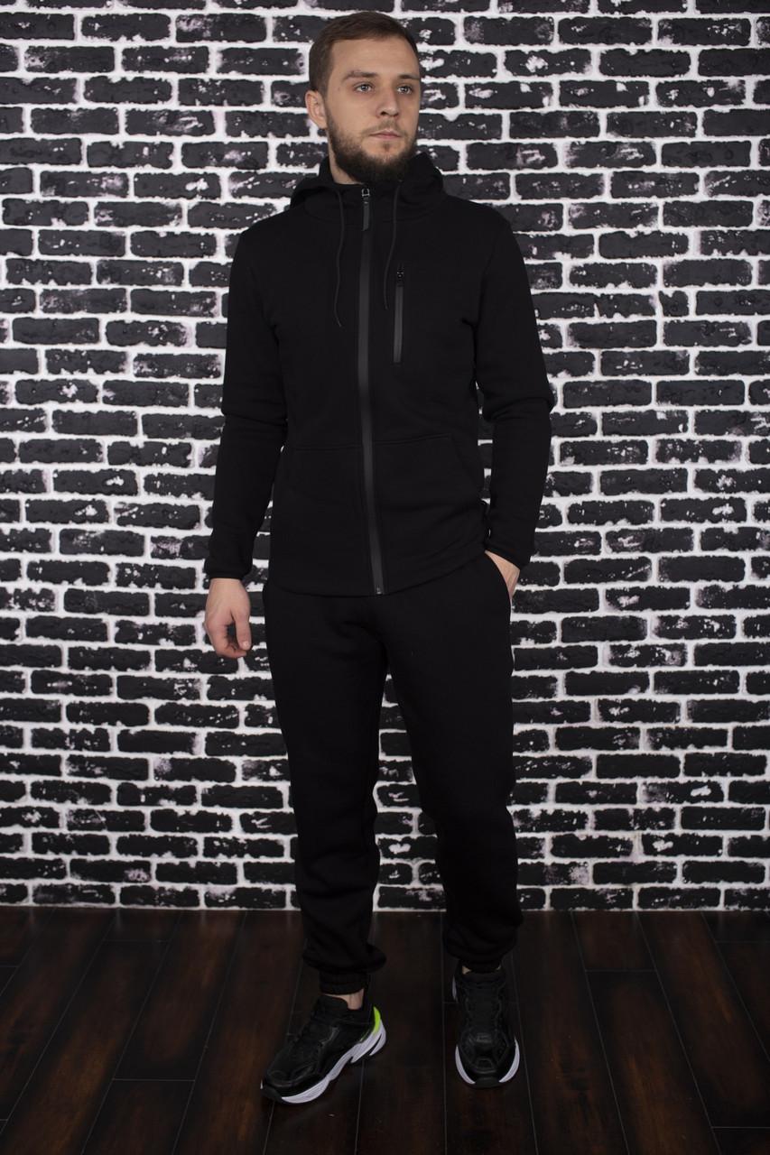 Спортивный костюм Spirited Hot Intruder черный - утепленный флисом