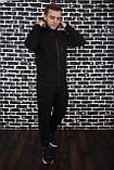 Спортивный костюм Spirited Hot Intruder черный - утепленный флисом, фото 3